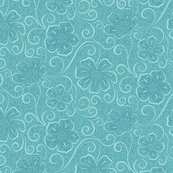 "12"" Remnant - BlueTonal  Floral -Meadow Dance by Amanda Murphy for Benartex"